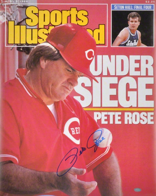 Pete Rose Cincinnati Reds - Sports Illustrated Cover - Autographed 16x20 Photpgraph