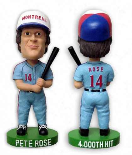 Pete Rose Montreal Expos Bobblehead