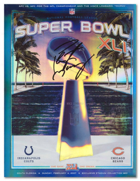 Peyton Mannning Autographed Super Bowl X Li Program