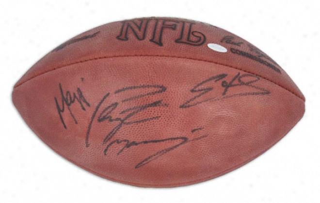 Peyton Manning, Edgerrin James, And Marvin Harrison Triple Autographed Football