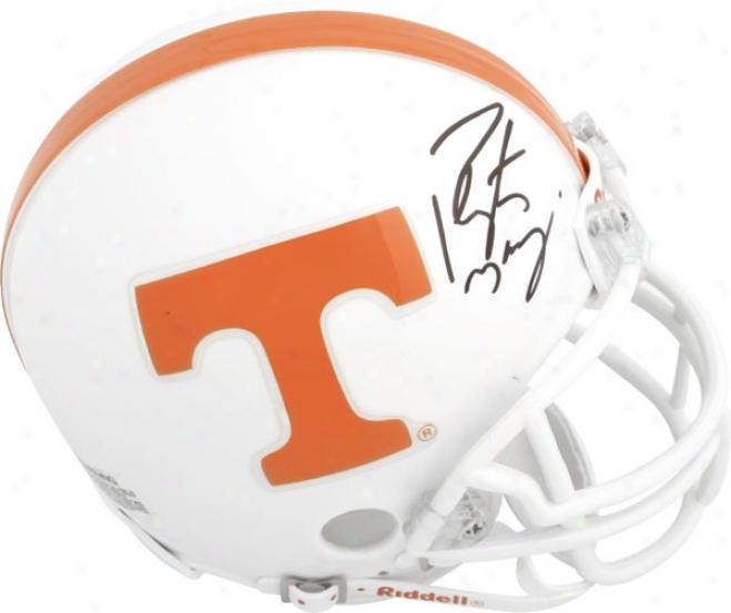 Peyton Manning Tennessee Volunteers Autographed Riddell Mini Helmet
