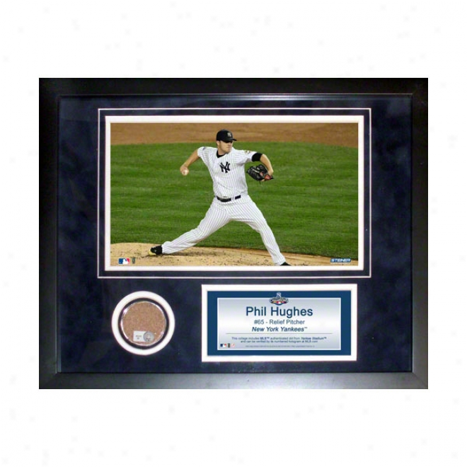 Phil Hughes New York Yankees 11x14 Framed Collage With Game Used Dirt, Photo & Nameplate