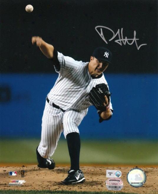 Phil Hughes New York Yankees Autographed 810 Photograph