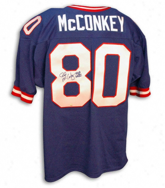 Phil Mcconkey Autographed Blue Throwback Jersey