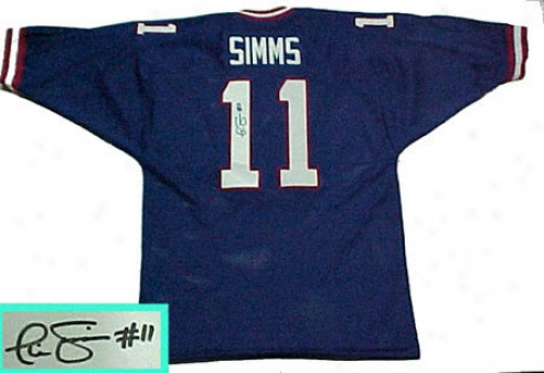 Phil Simms New York Giants Autographed Throwback Jersey