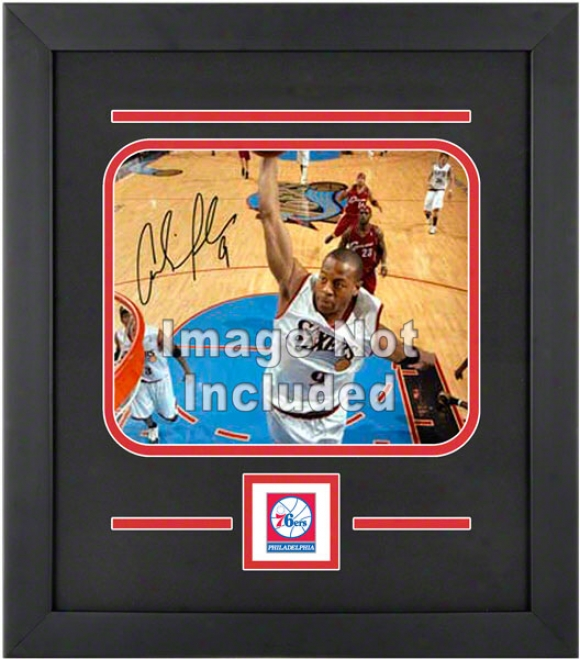 Philadelphia 76ers 8x10 Horizontal Setup Frame With Team Logo
