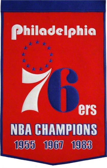 Philadelphia 76ers Dynasty Banner