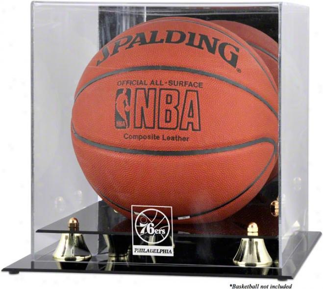 Philadelphia 76ers Golden Classic Logo Basketball Display Case