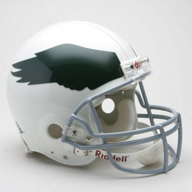 Philadelphia Eagles 1969-1973 Ayhentic Pro Lind Riddell Throwback Fuol Size Helmet