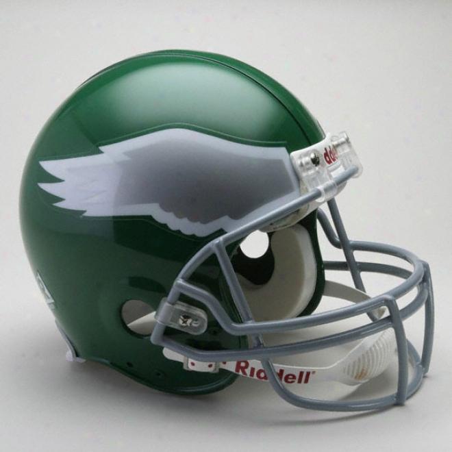 Philadelphia Eagles 1974-1995 Trustworthy Prp Line Riddell Throwback Full Size Helmet