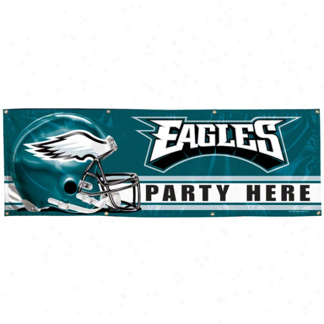 Philadelphia Eagles 2x6 Vinyl Banner