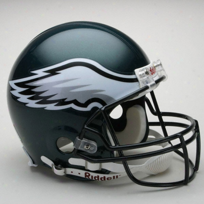 Philadelphia Eagles Authentic Pro Line Riddell Full Bigness Helmet