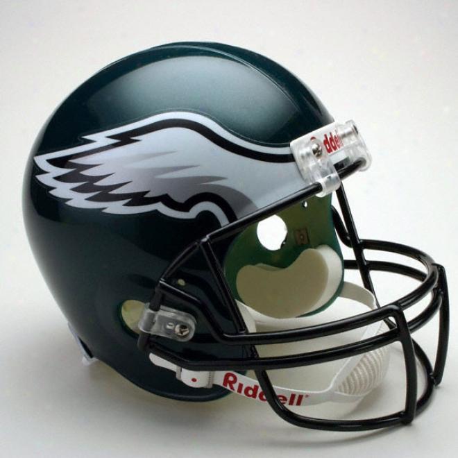 Philadelphiw Eagles Deluxe Replica Riddell Full Sizing Helmet