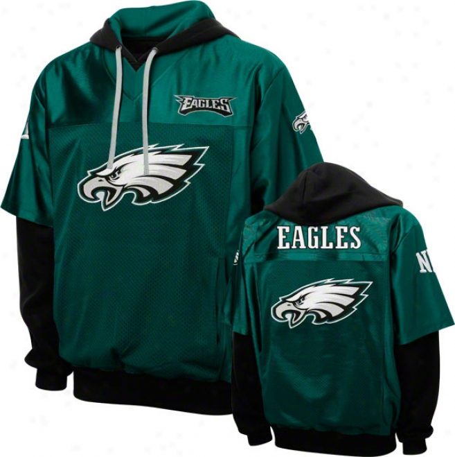 Philadelpnia Eagles Green Grid Iron 2 Pullover Jersey Hoodie