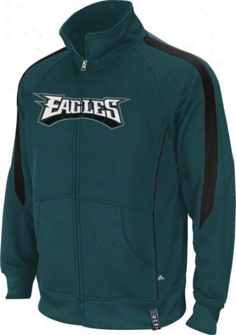 Philadelphia Eagles Green Tailgate Time Track Jacket
