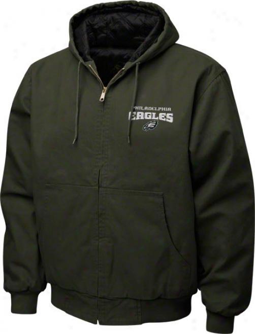 Philadelphia Eagles Jacket: Green Reebok C8mberland Jerkin