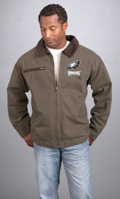 Philadelphia Eagles Jacket: Olive-green Reebok Tradesman Jacket