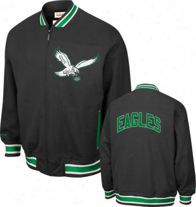 Philadelphia Eagles Mitchell & Ness Sideline Track Jackdt