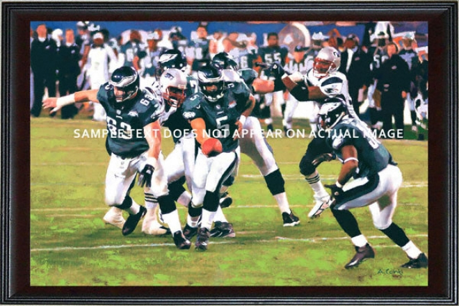 Philadelphia Eagles - &quoteagles Run&quot - Oversized - Framed Giclee