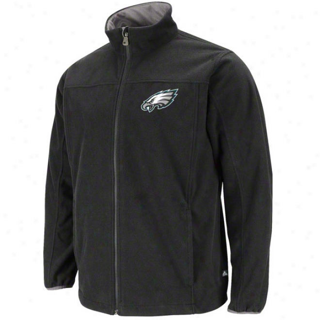 Philadelphia Eagles Safety Blitz Iii Black Full-zip Jacket