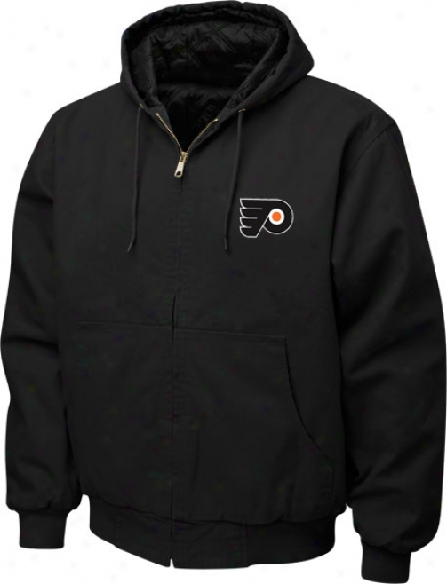Philadelphia Flyers Jacket: Black Reebok Cumbberland Jacket