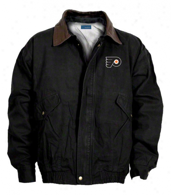 Philadelphia Flyers Jacket: Black Reebok Navigator Jacket