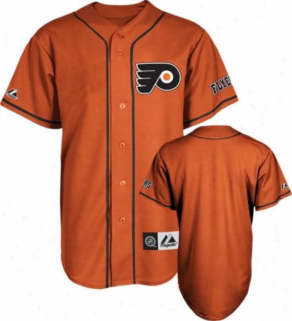 Philadelphia Flyers Jersey: Orange Nhl Replica Baseball Jersey