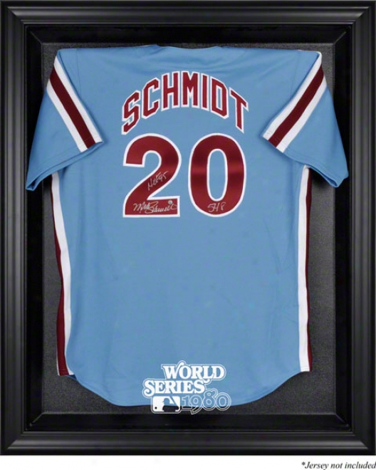 Philadelphia Phjllies 1980 World Series Champs Black Framed Logo Jersey Dosplay Case