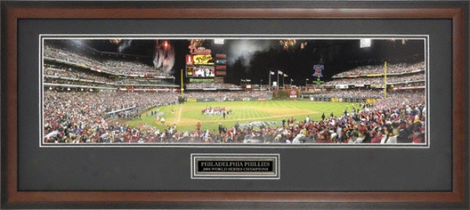 Philadelphia Phillies 2008 World Series Champs Framed Panoramic Photograph