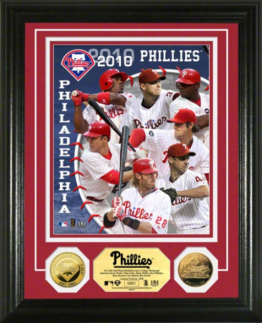Philadelphia Phillies 2010 Team 24kt Gold Coin Photo Mint