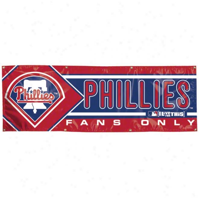 Philsdelphia Phillies 2x6 Vinyl Banner