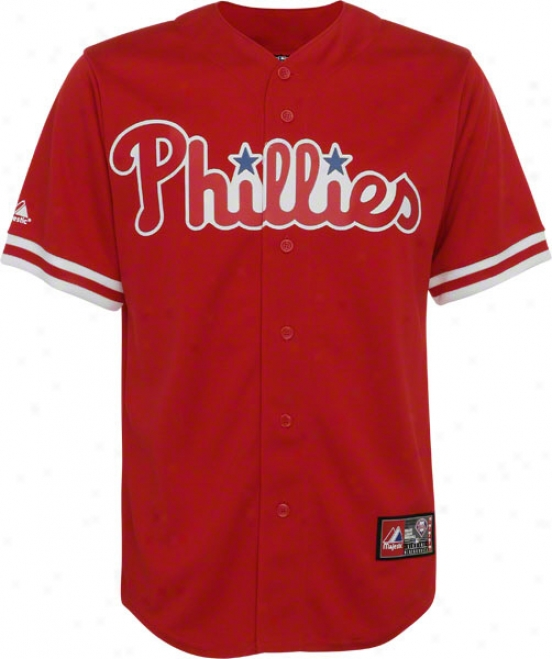 Philadelphia Phillies Genuine Collection Primary Color Red Jersey