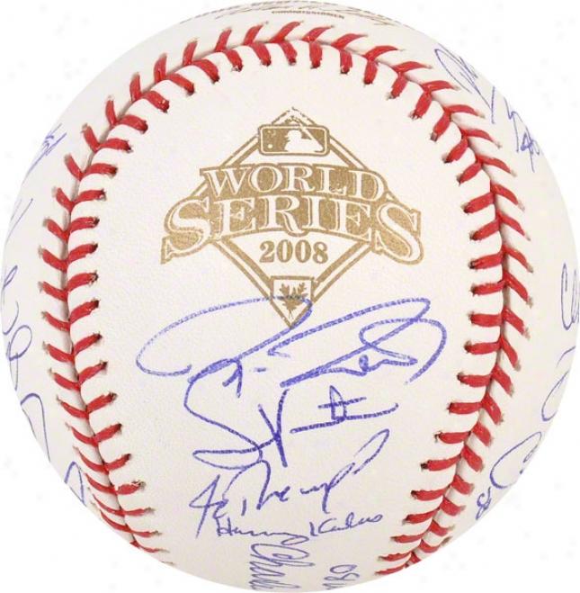 Philadelphia Phillies Autographed Baseball  Details: Team Signed, 2008 World Series