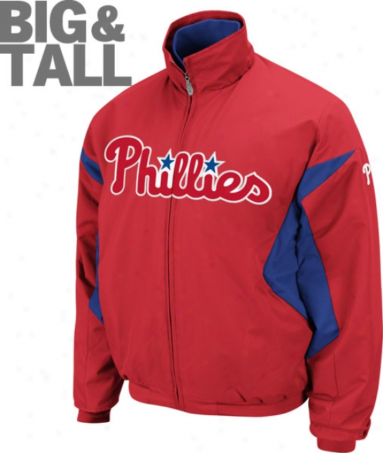 Philadelphia Phillies Big & High Authentic Assemblage Red Therma Base Triple Peak Premier Jacket