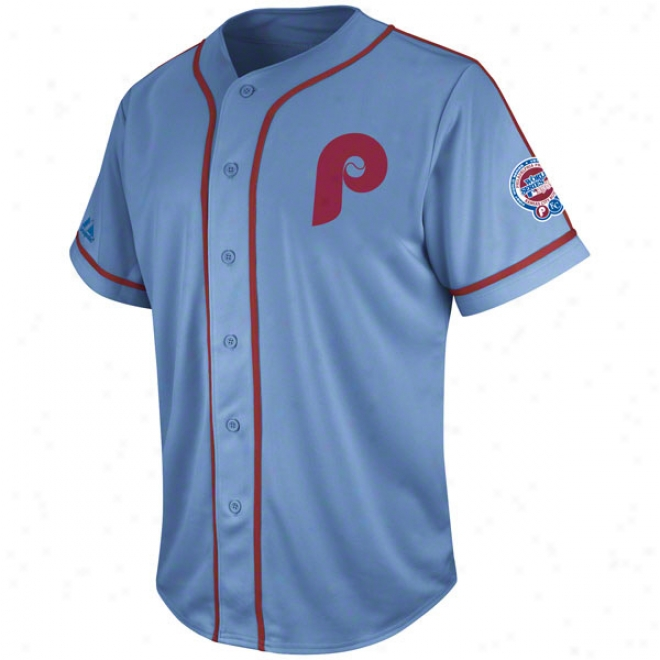 Philadelphia Phillies Coastal Blue Cooperstown Tradition Jersey