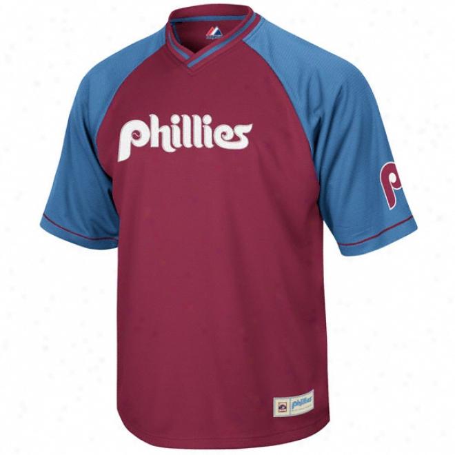 Philadelphia Phillies Cooperstown Full Force V-neck Jersey