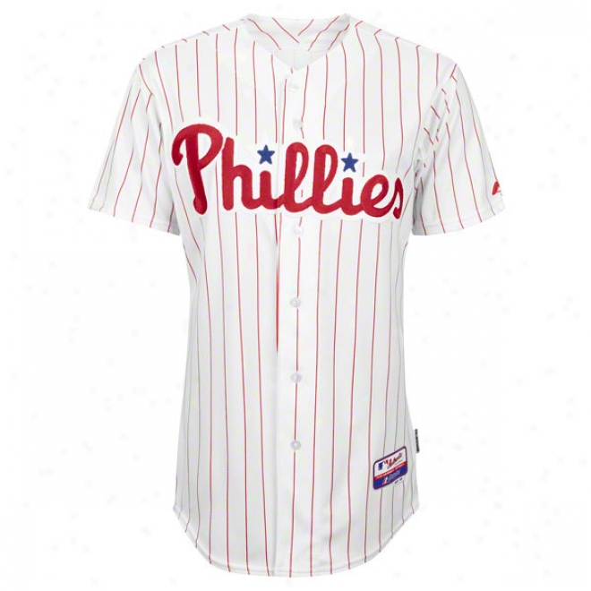 Philadelphia Phillies Home White Authentic Cool Baseã¢â�žâ¢ On-field Mlb Jesrey