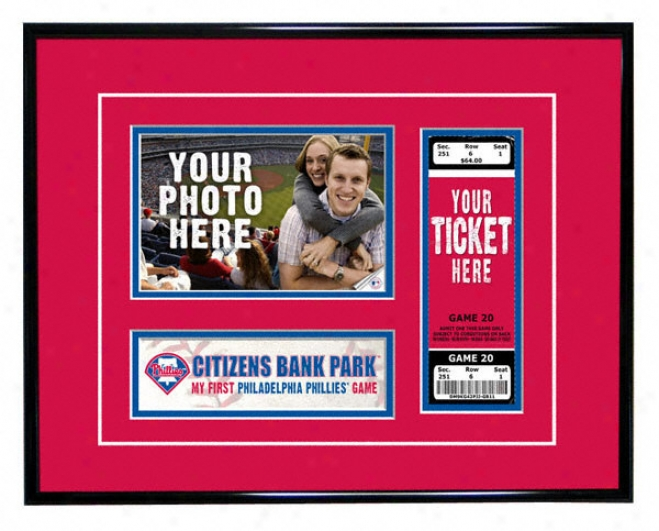 Philadelphia Phillies - My First Game - Ticket Frame
