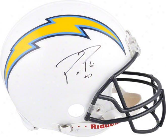 Philip Rivers Autographed Pro-line Helmet  Details: San Diego Chargers, Authentic Riddell Helmet