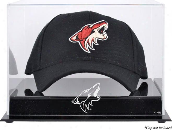 Phoenix Coyotes Acrylic Cap Logo Display Case