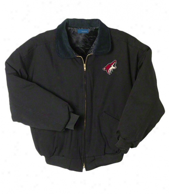 Phoenix Coyotes Jacket: Black Reebok Saginaw Jacket