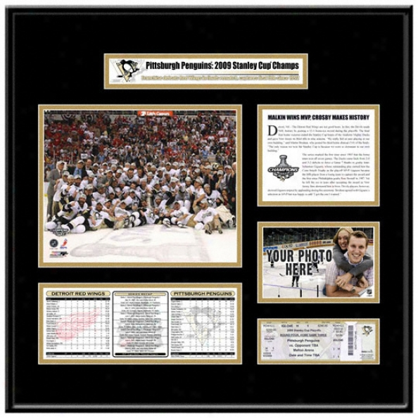 Pittsburgh Penguins 2009 Stanley Cup Champions Ticket Frame