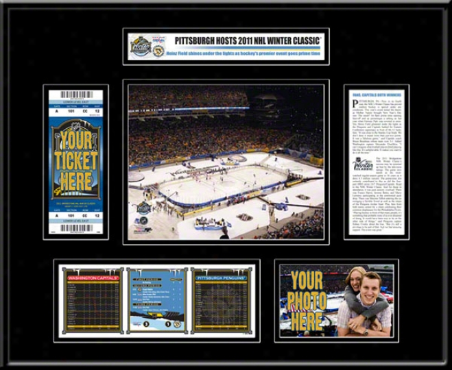 Pittsburgh Penguins 2011 Winter Classic Ticket Frame