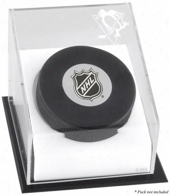Pittsburgh Penguins Hockey Puck Logo Display Case