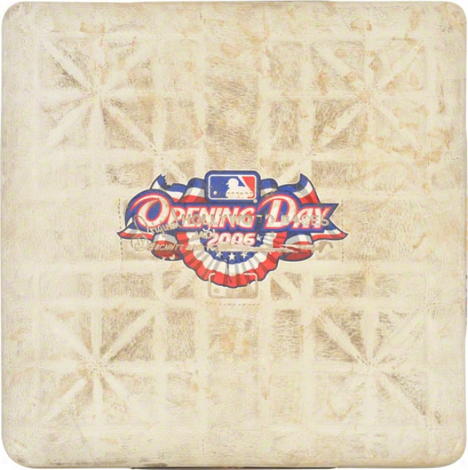 Pittsburgh Pirates 2006 Fireside Opener Vs. Dodgers Unsigned Game Used Base