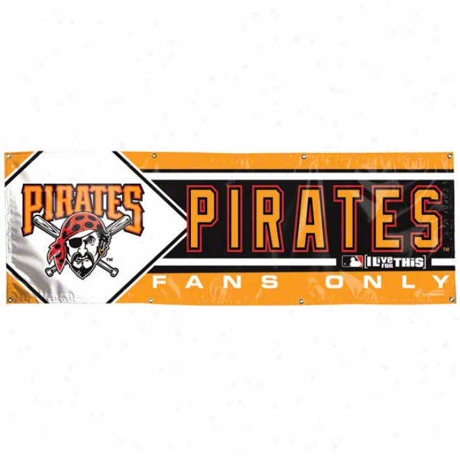 Pittsgurgh Pirates 2x6 Vinyl Banner