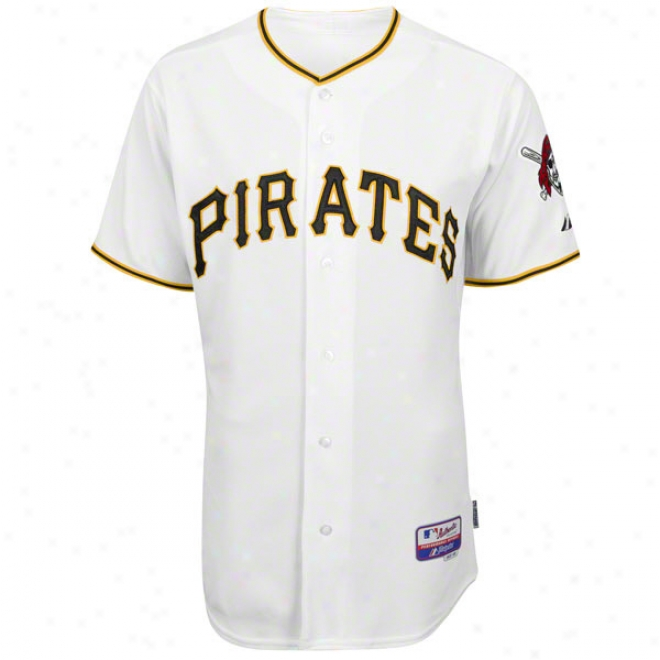 Pittsburgh Pirates Domicile White Authentic Cool Baseã¢â�žâ¢ On-field Jersey