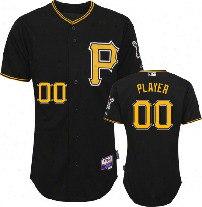 Pittsburgh Pirates Jersey: Any Player Big & Tall Alternate Black Authentic Coo1 Baseã¢â�žâ¢ On-field Jersey