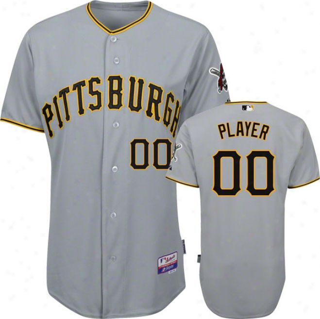 Pittsburgh Pirates Jersey: Any Player Big & Tall Roadstead Grey Authentic Cool Baseã¢â�žâ¢ On-field Jersey