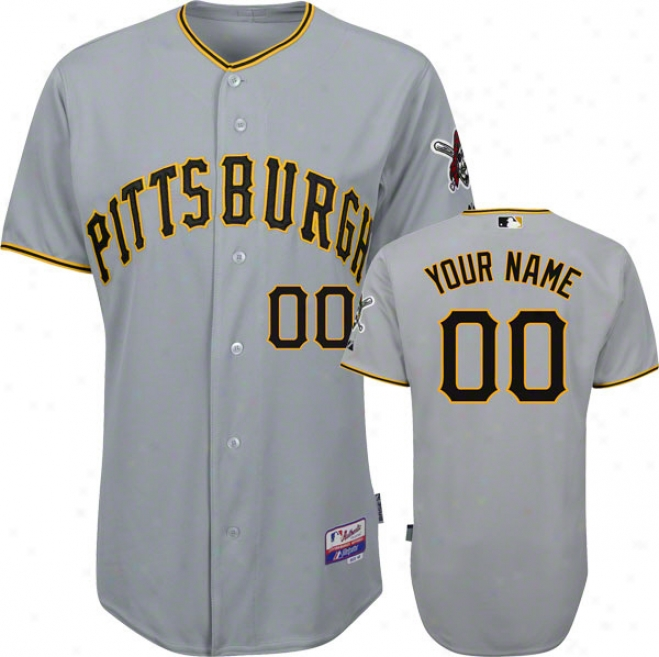Pittsburgh Pirates Jersey: Personqlized Big & Tall Road Grey Authentic Cool Baseã¢â�žâ¢ On-field Jersey